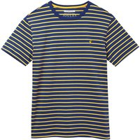 Joules Boathouse Striped T-Shirt Blue Yellow Stripe Medium