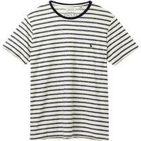 Joules Textured Stripe Tee Cream Navy Stripe Medium