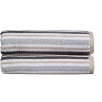 Christy Carnival Stripe Towels Grey Bath Towel