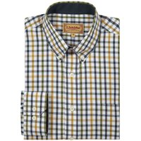 Schoffel Brancaster Shirt Olive Check 15.5 Inch