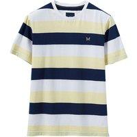 Crew Clothing Hodder Stripe Tee Bees Wax / Navy White XXL