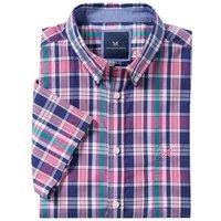 Crew Clothing Raven Short Sleeve Shirt Indigo/Rose/Alhambra/Lemon Medium