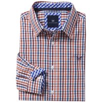 Crew Clothing Mens Classic Gingham Shirt Highseas/Rosewood Small