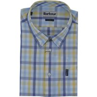 Barbour Mens Tattersall 14 S/S Tailored Shirt Lemon Small