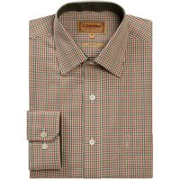 Schoffel Burnham Tattersall Shirt Olive 15.5 Inch