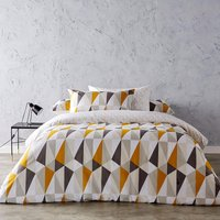 Kingsley Diamond Printed Duvet Set  Double