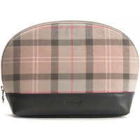 Barbour Womens Tartan Washbag Taupe/Pink One