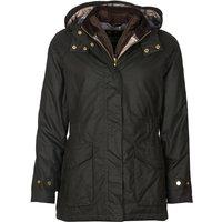 Barbour Womens Aberdeen Wax Jacket Sage/Oatmeal Tartan 16