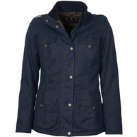 Barbour Womens Winter Defence Wax Jacket Navy/Classic 8
