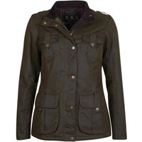 Barbour Womens Winter Defence Wax Jacket Olive/Classic 18
