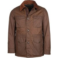 Barbour Mens Teddon Wax Jacket Brown Large