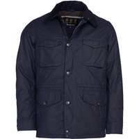 Barbour Mens Teddon Wax Jacket Royal Navy Medium