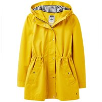 Joules Womens Shoreside Waterproof A-Line Coat Antique Gold 18