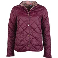 Barbour X Laura Ashley Womens Elm Quilted Jacket Bordeaux/Indienne 14