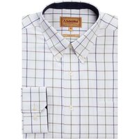 Schoffel Mens Brancaster Shirt Navy/Brown/Olive Wide 19.5 Inch