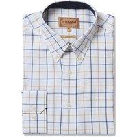 Schoffel Mens Brancaster Shirt Navy/Brown/Yellow Wide 15 Inch
