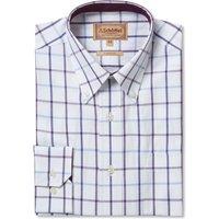 Schoffel Mens Brancaster Shirt Navy/Brown/Yellow Wide 18.5 Inch
