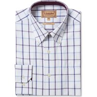 Schoffel Mens Brancaster Shirt Purple Check Wide 18.5 Inch