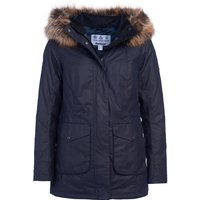 Barbour Womens Tern Wax Jacket Royal Navy 8
