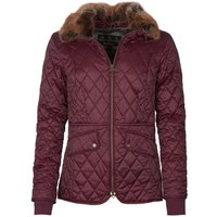 Barbour Womens Hawthorns Quilted Jacket Winter Blackberry/Green Pink Check 10