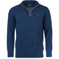 Barbour Mens Essential Lambswool Half Zip Sweater Navy Mix Small