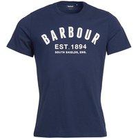 Barbour Mens Ridge Logo Tee Navy XXL
