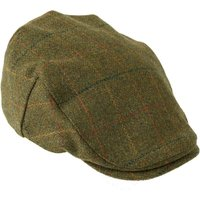 Heather Mens Kinloch Waterproof Tweed Cap Brown/Orange Medium