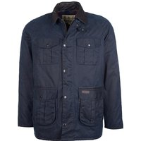 Barbour Mens Hebden Wax Jacket Navy Medium