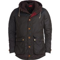 Barbour Mens Game Parka Wax Jacket Olive Large