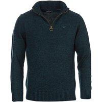 Barbour Mens Essential Lambswool Half Zip Sweater Seaweed Mix Medium
