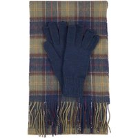 Barbour Womens Wool Tartan Scarf and Glove Set Classic Tartan One