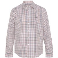 R.M. Williams Mens Collin Shirt AW20 White/Orange/Brown Large