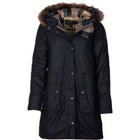 Barbour Womens Mull Wax Jacket Navy/Dress 8