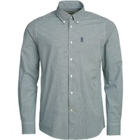 Barbour Mens Gingham 10 Tailored Shirt Racing Green Small