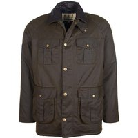 Barbour Mens Hebden Wax Jacket Olive Large