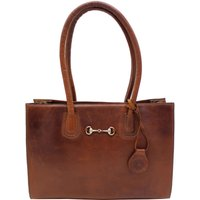 Hicks and Hides Womens Chedworth Bit Handbag Cognac