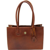 Hicks and Hides Womens Chedworth Cartridge Handbag Cognac