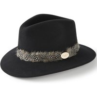 Hicks and Brown Womens Suffolk Guinea Wrap Hat Black Small