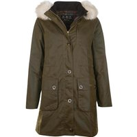Barbour Womens Nightingale Wax Jacket Olive / Classic 18