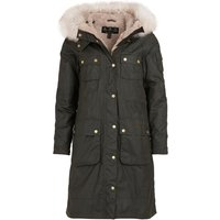 Barbour Womens Stopes Wax Jacket Olive / Natural 16