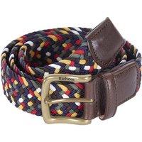 Barbour Mens Tartan Coloured Stretch Belt Gift Box Classic Medium
