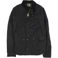 Barbour Mens Reelin Wax Jacket Navy Large