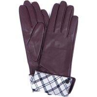 Barbour Womens Lady Jane Leather Gloves Juniper Medium