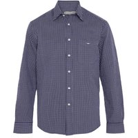 R.M. Williams Mens Collin Shirt AW20 Navy/White Large