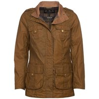 Barbour Womens Flowerdale Wax Jacket Sand/Classic 8