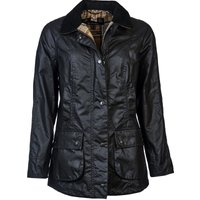 Barbour Womens Beadnell Wax Jacket Navy 6