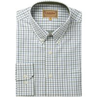 Schoffel Mens Banbury Shirt Blue/Olive Check 16.5 Inch