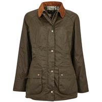 Barbour Womens Aintree Wax Jacket Archive Olive 10