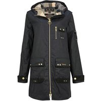 Barbour Womens Lennox Wax Jacket Royal Navy/Dress 12
