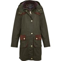 Barbour Womens Taylor Wax Jacket Archive Olive/Classic 12